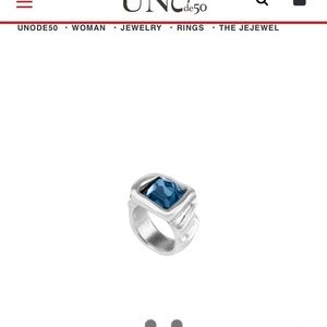 "Uno de 50 ""The JeJewel"" Ring size 7.25"